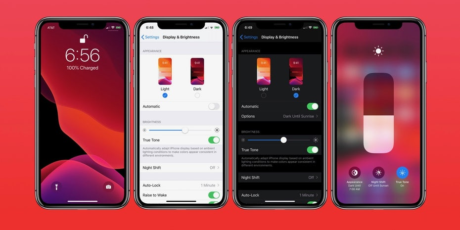 Dark mode vs light mode in app design for iOS 13