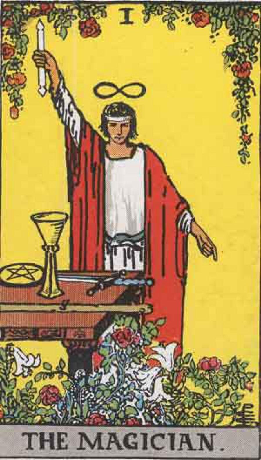 Bild des Magiers einer Tarotkarte
