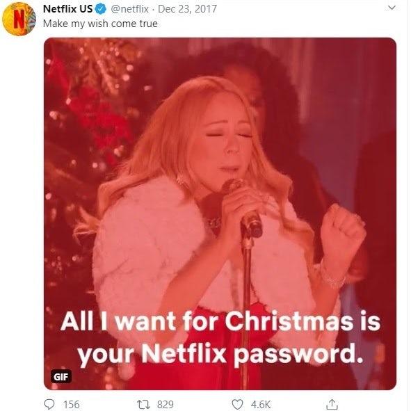 Netflix meme Mariah Carey Christmas