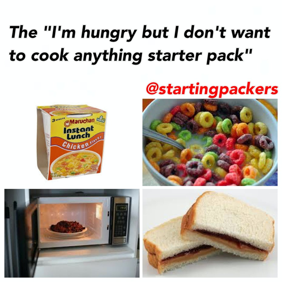 Starterpack of no-cooking-necessary foods