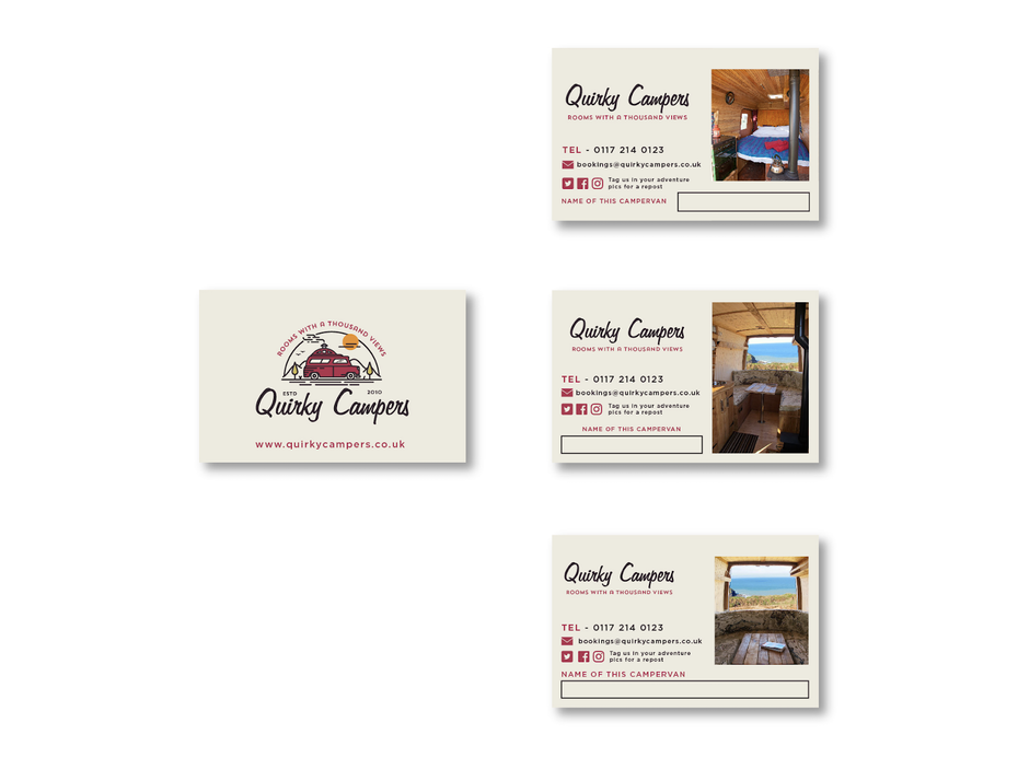 Quirky Campers business cards