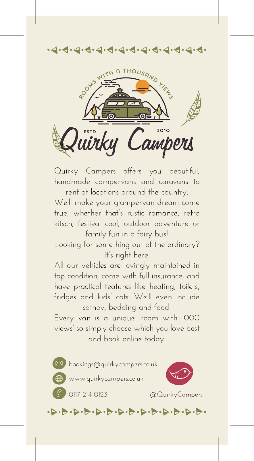 Quirky Campers Flyer design