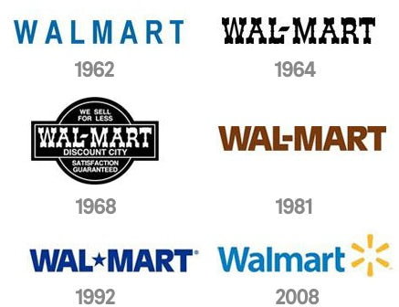 walmart logo evolution
