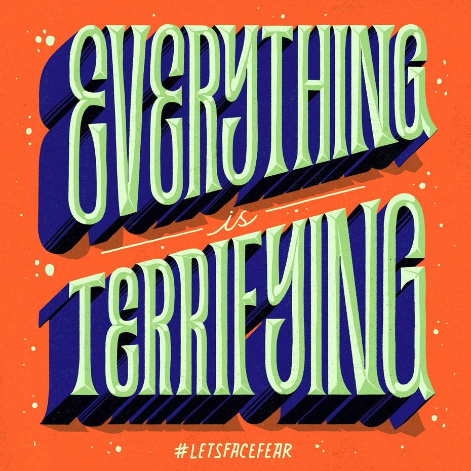 Everything terrifying 3D lettering