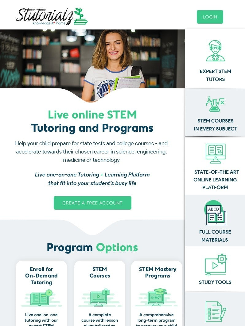 green and white STEM education newsletter