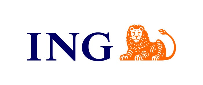 what company has an orange lion logo