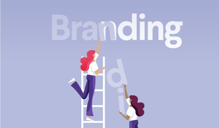 wie branding abläuft illustration