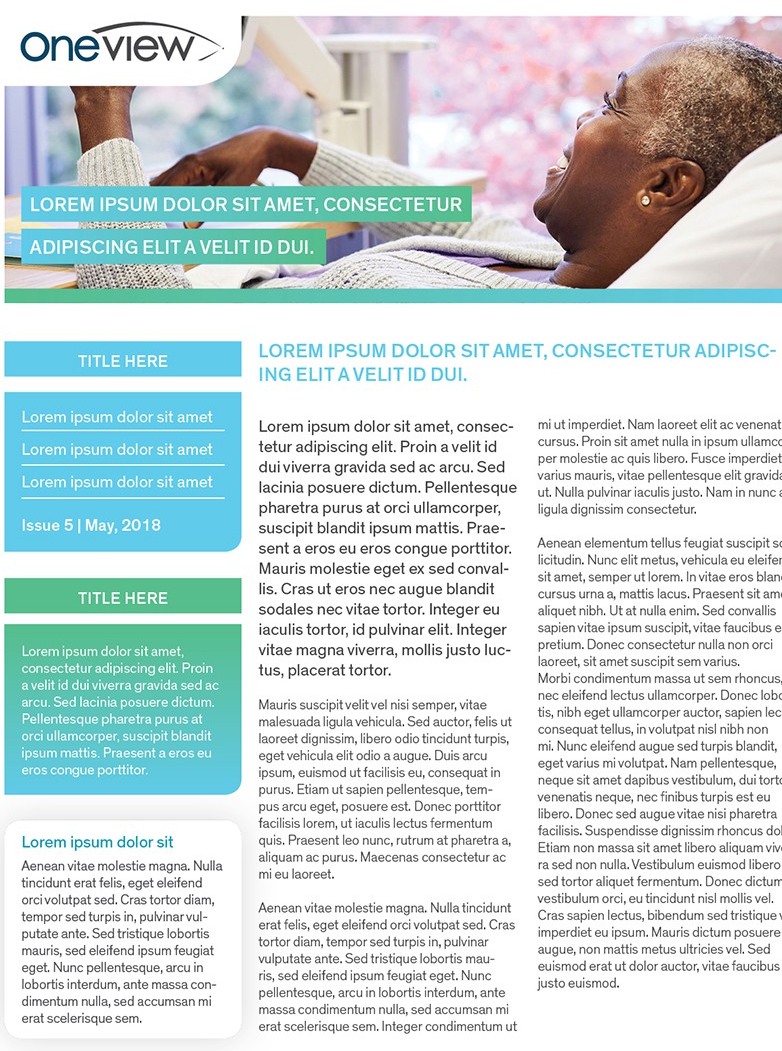 alt text: green and white pharmaceutical newsletter template