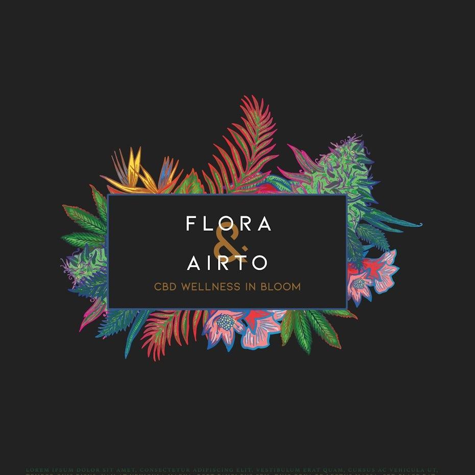 floral cbd logo design