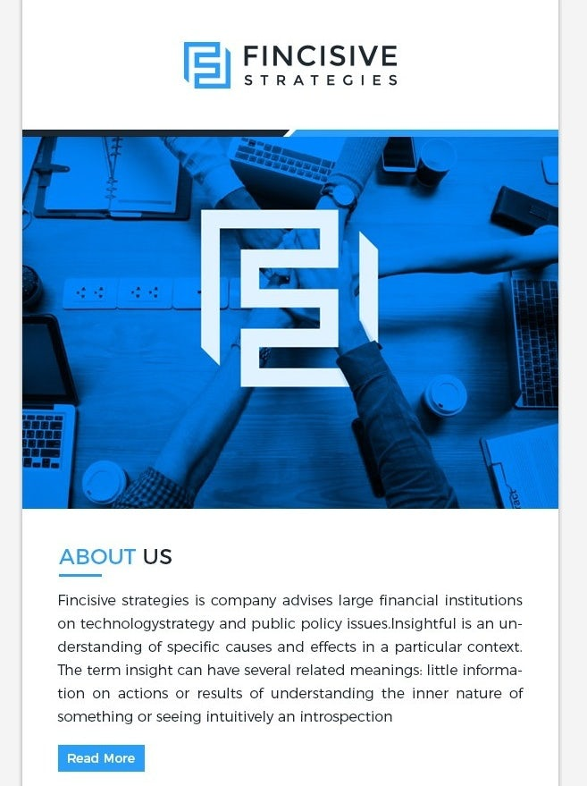 blue and white minimalist newsletter template