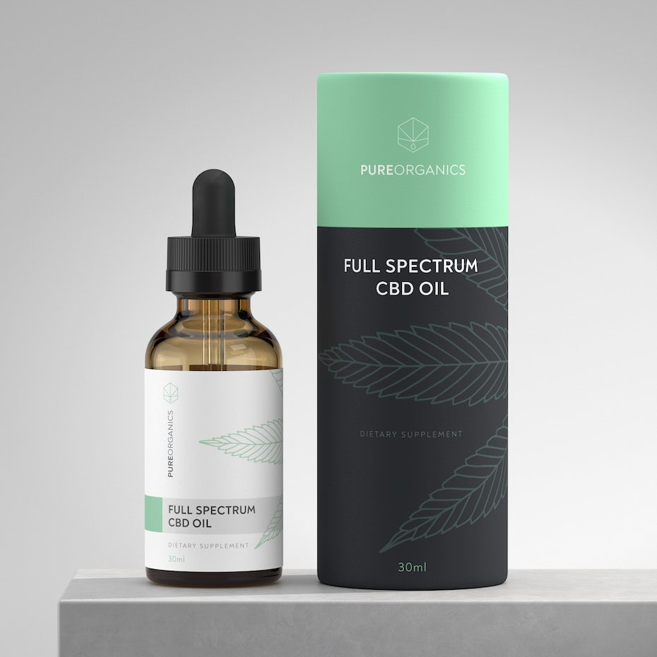 classic and modern cbd packaging design