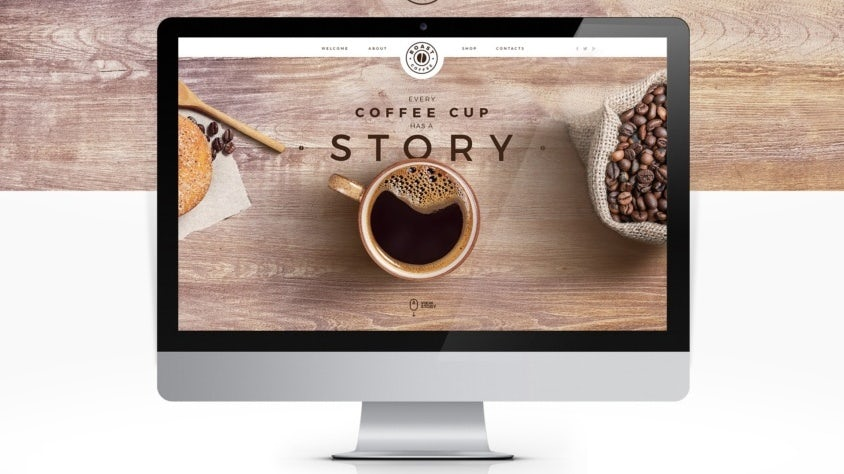 E-Commerce-Webdesign für Kaffeemarke