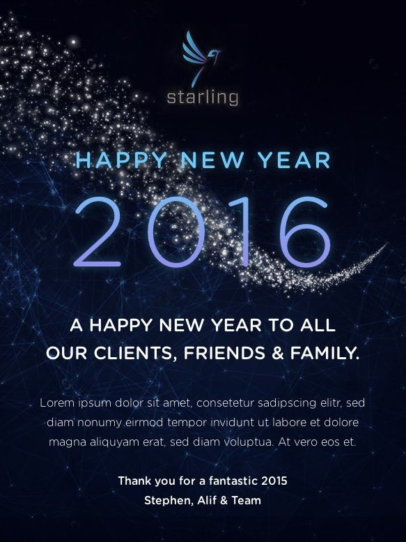 New Year's 2016 email image