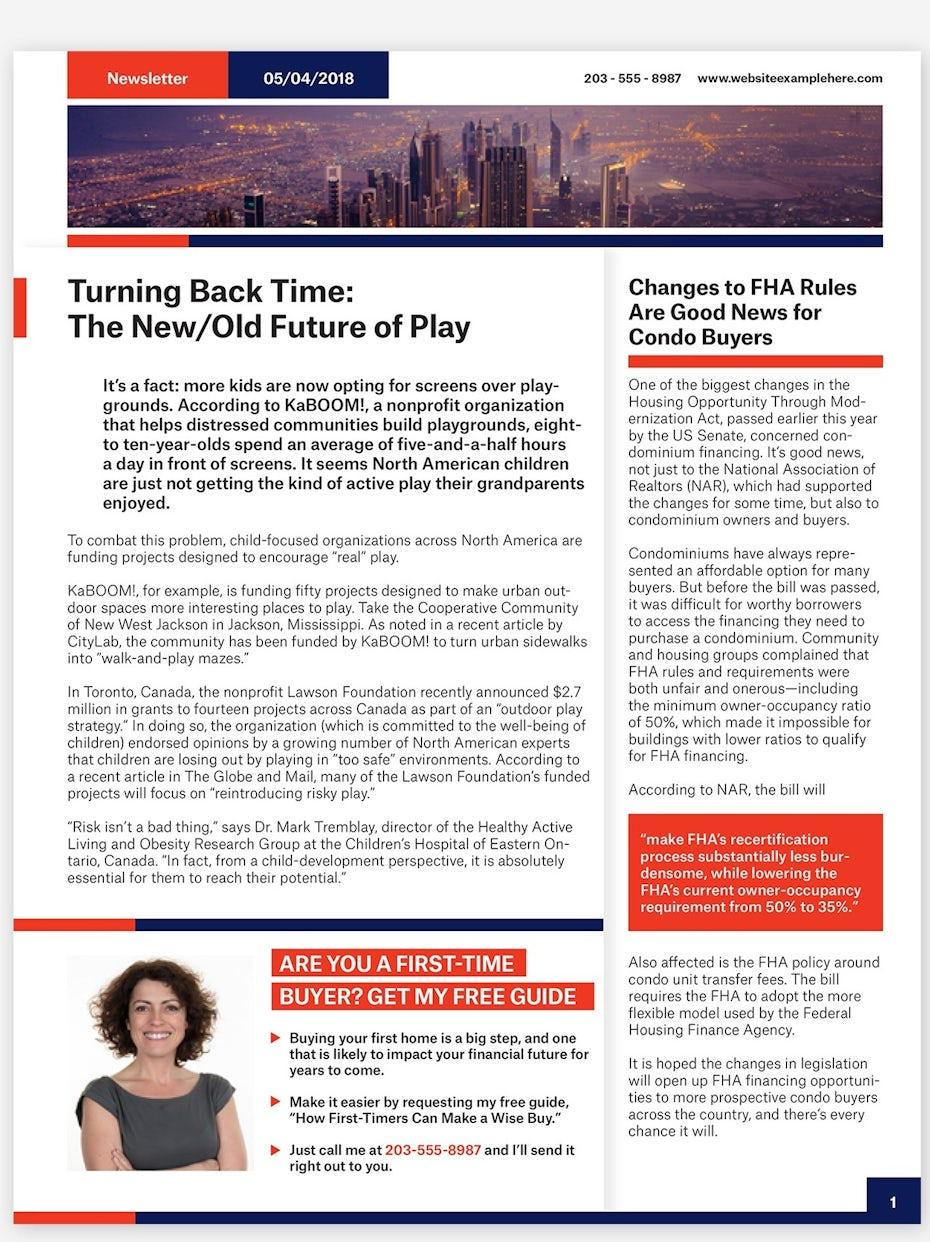 colorblock newsletter template