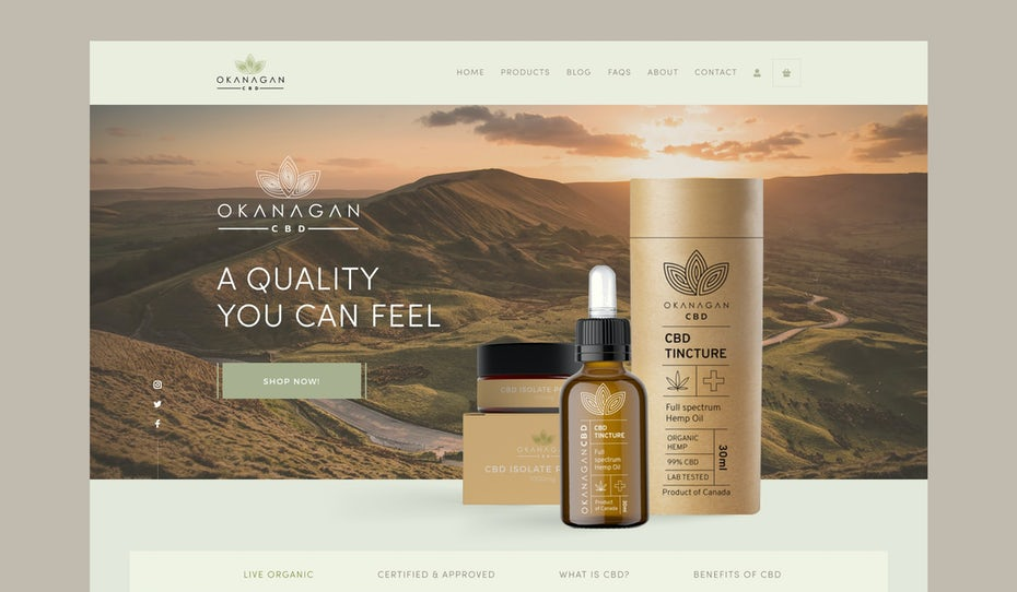 elegant and natural cbd web design