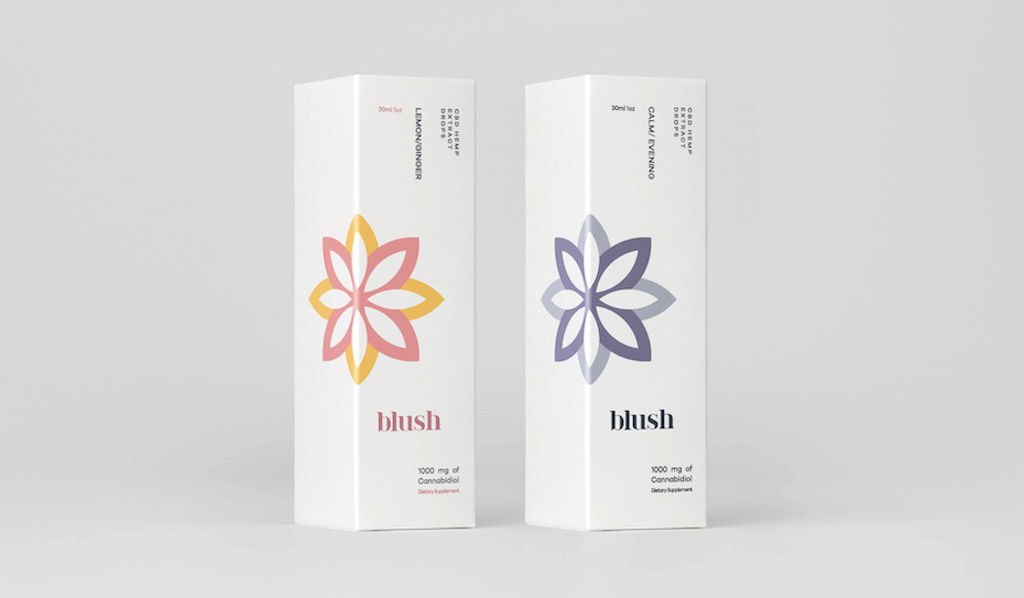 minimal cbd packaging and logo