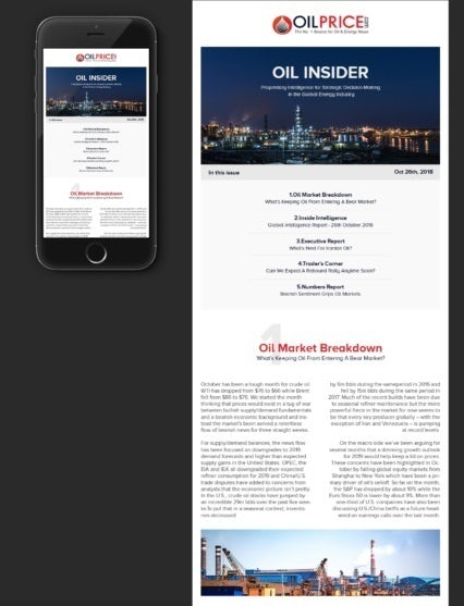 text-heavy black and white newsletter with a refinery photo header