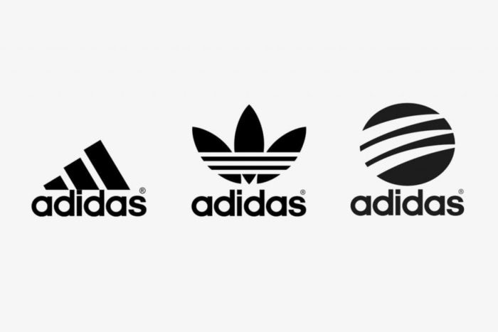 Adidas mountain, trefoil and circle logos