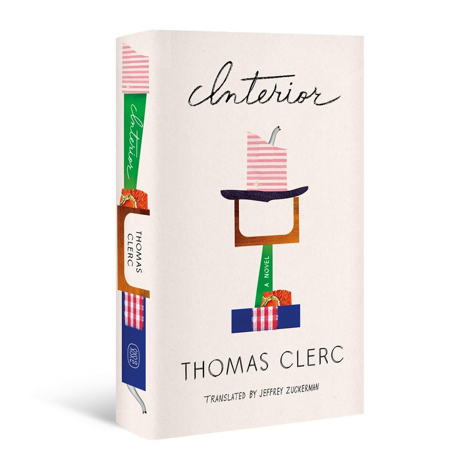 white book cover with a collage design showing multi-colored shapes made of torn paper