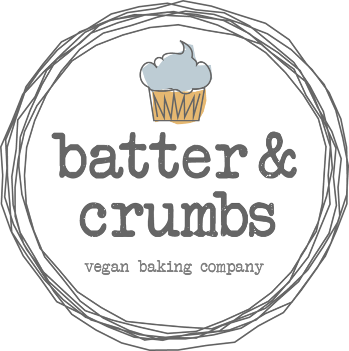 Logo design for batter & crumbs vegan baking company