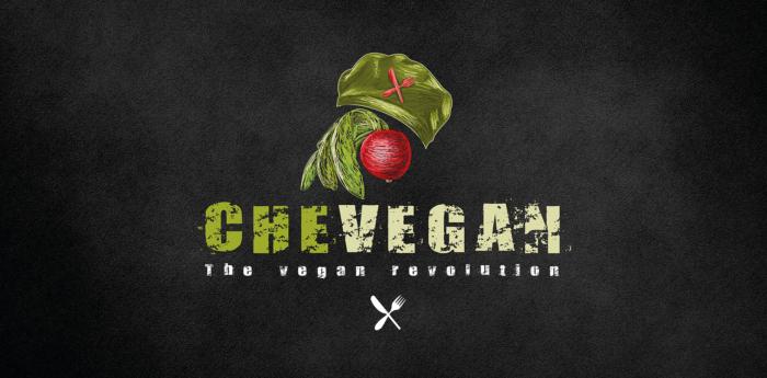 schwarzes veganes logo für vegane marke