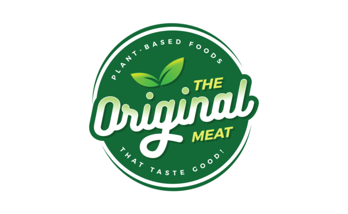 Green vegan logo design for The Original Meat