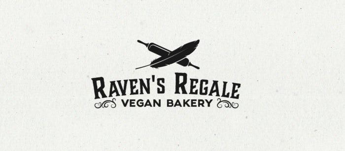Logo noir pour la boulangerie vegan Raven's Regale