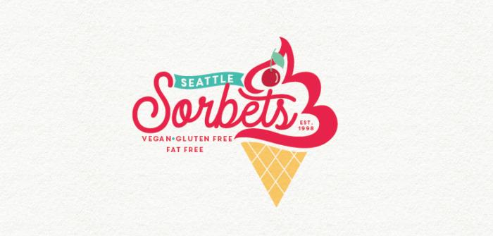 Design de logo avec écriture cursive pour Seattle Sorbets