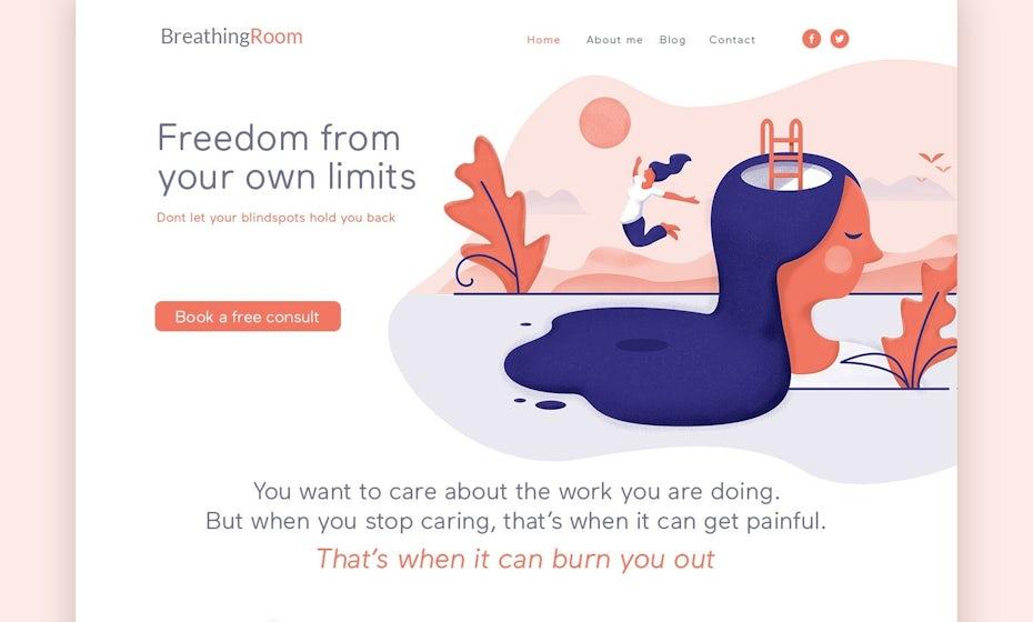 Breathing Room website