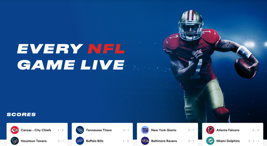 Blue and red sports web page design
