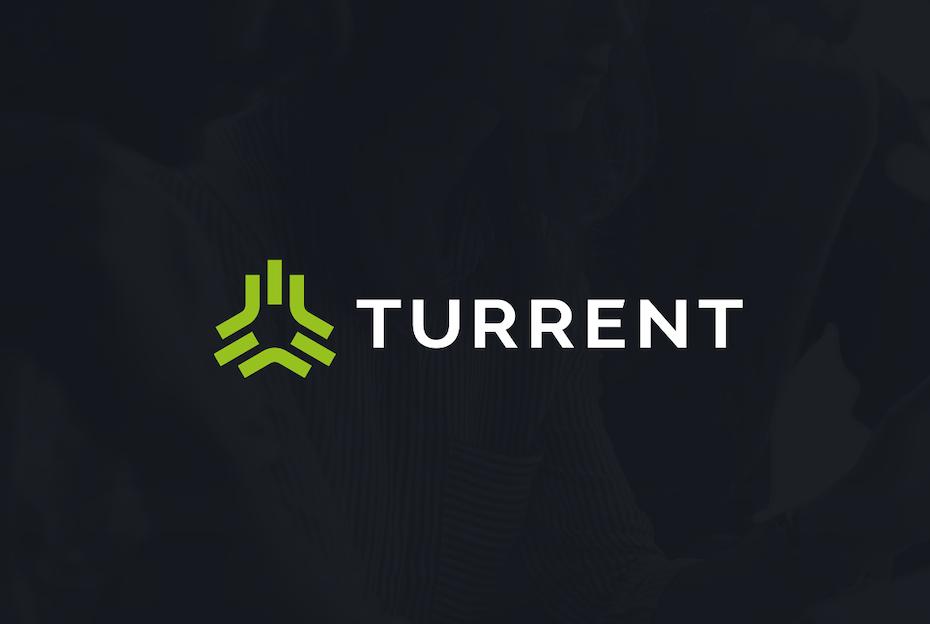 Green abstract geometric tech-themed digital marketing logo