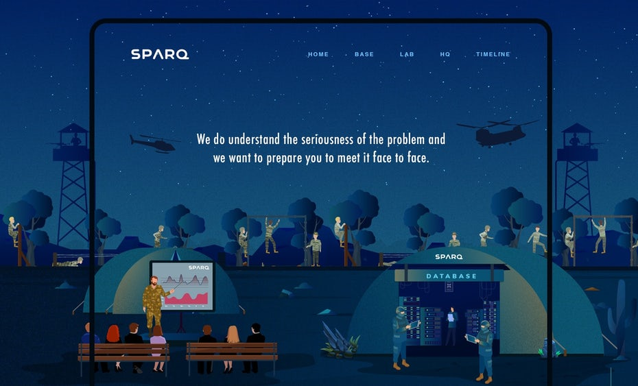 Sparq Storytelling website