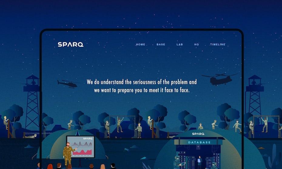 Sparq Storytelling website