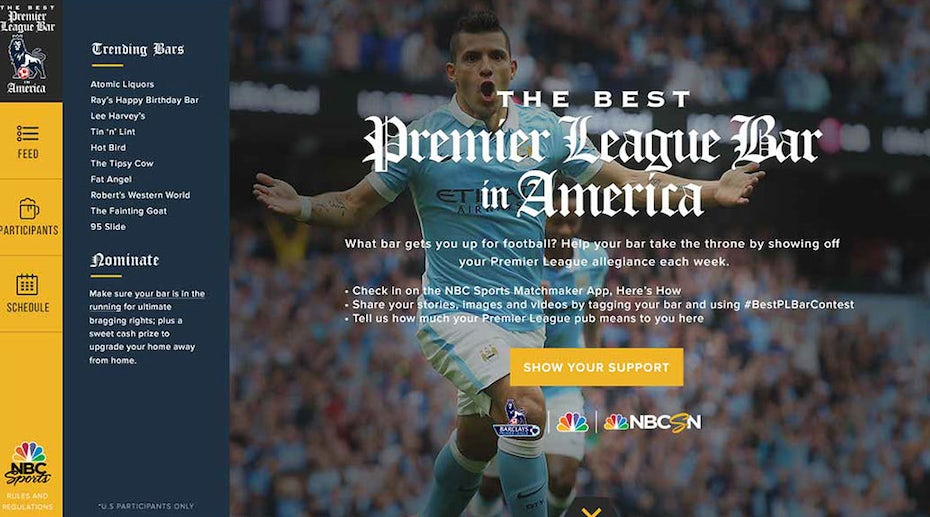 Blue and yellow sports web page design