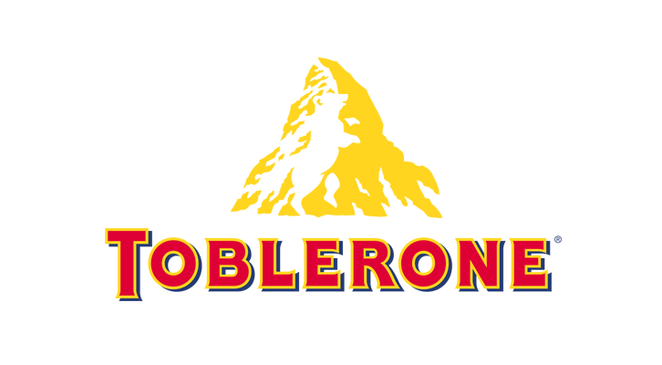 Toblerone logo showing the wordmark and mountain with the bear in its negative space