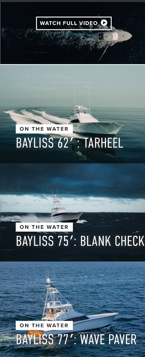 Photographic mobile web design for a boating retail brand