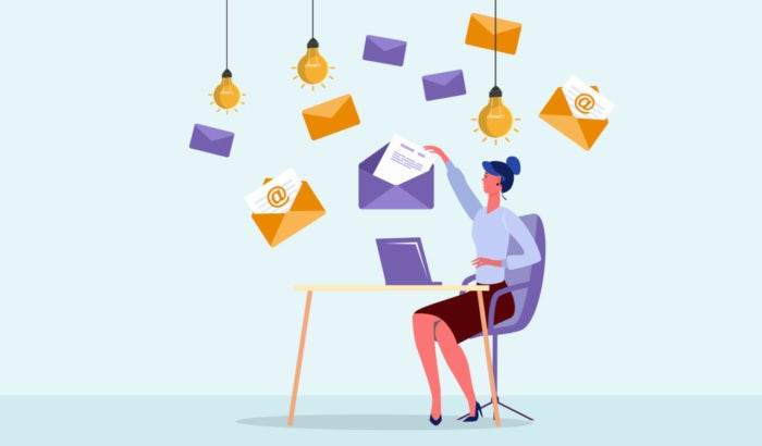 Email design ideen - illustration