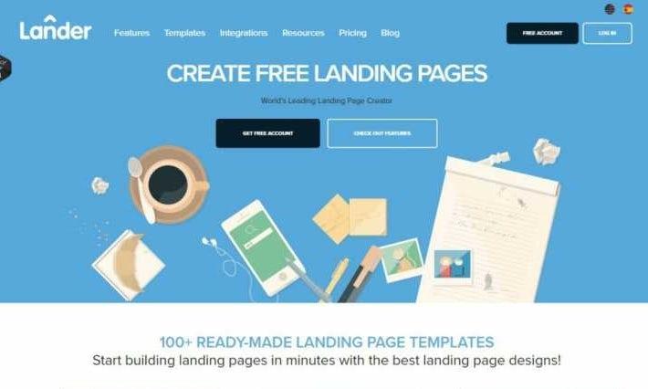 Lander website