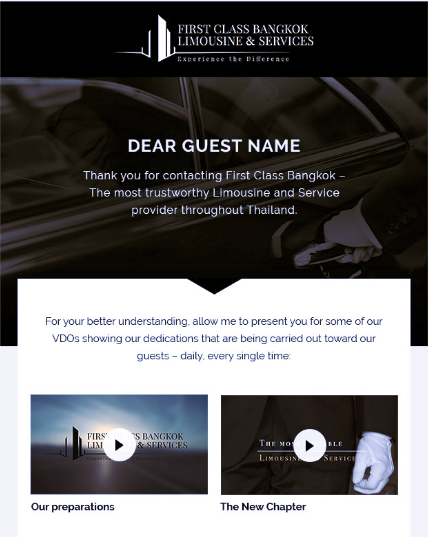 email design for limousine services