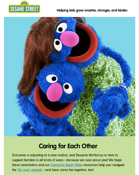 email design for Sesame Street