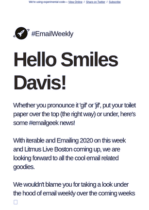 email design for #EmailWeekly