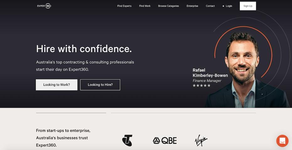 Expert360's homepage