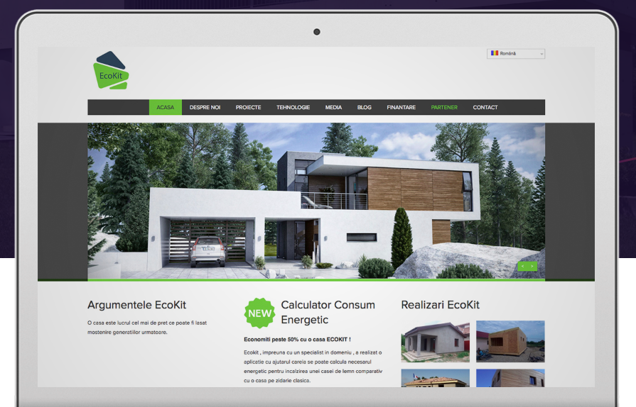 Real estate web page design