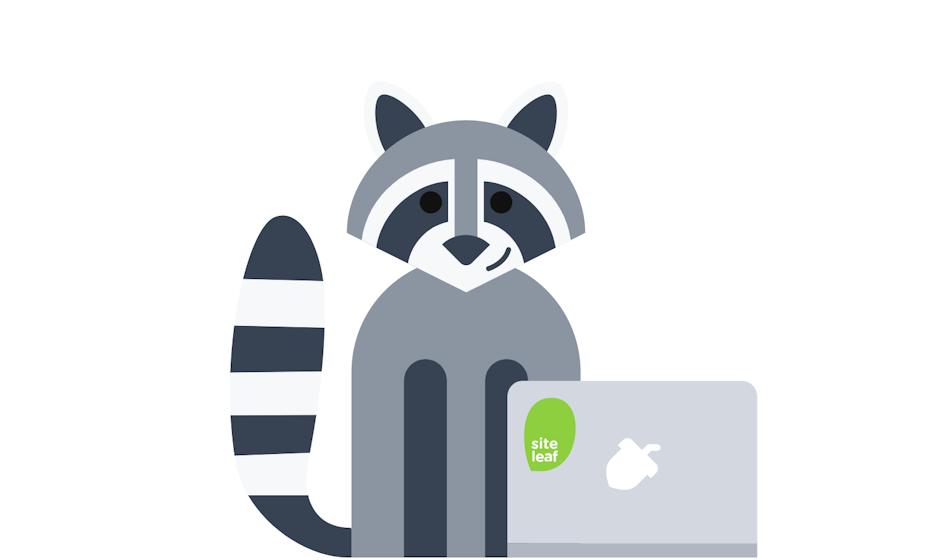 Site Leaf website character