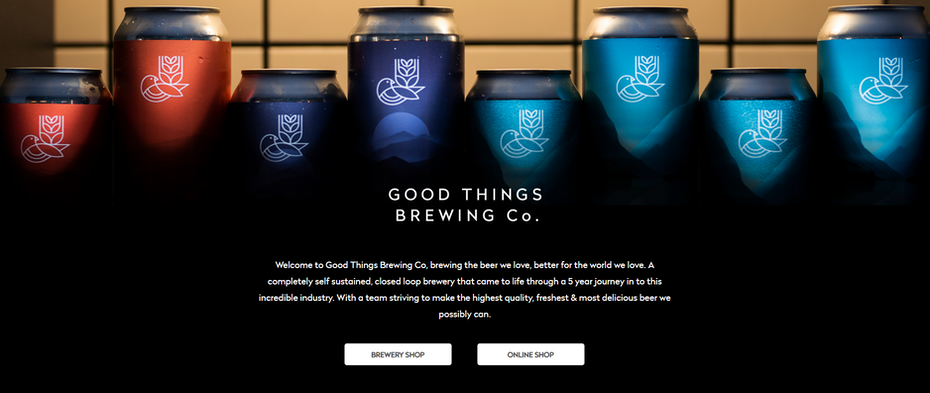 Good Things Brewing Co. website