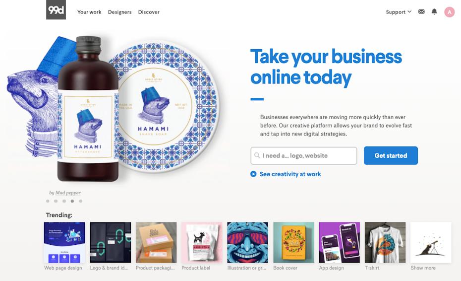upwork alternative for graphic design 99designs