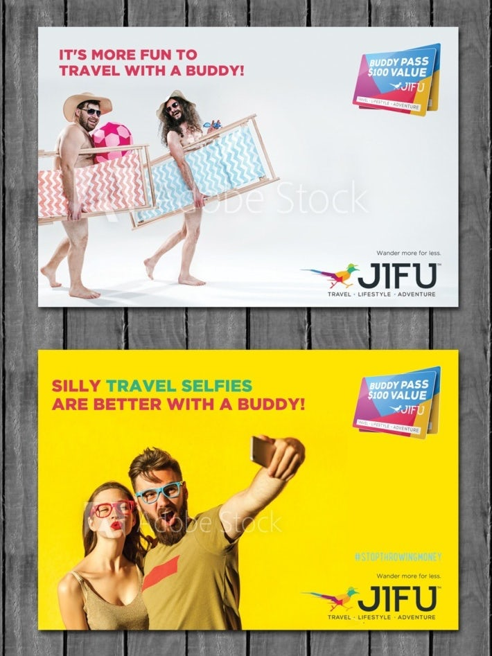 colorful travel advertisement design
