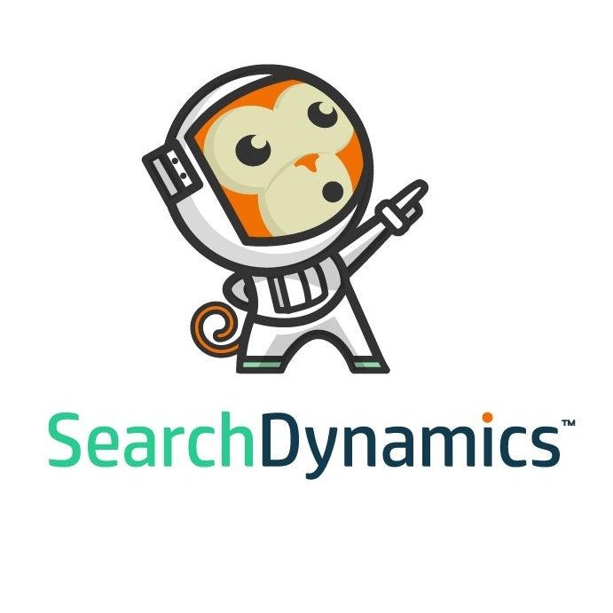 Cartoon astronaut chimp mascot digital marketing logo