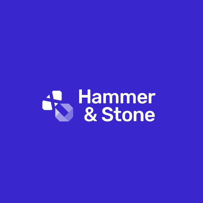 Purple abstract symbol digital marketing logo