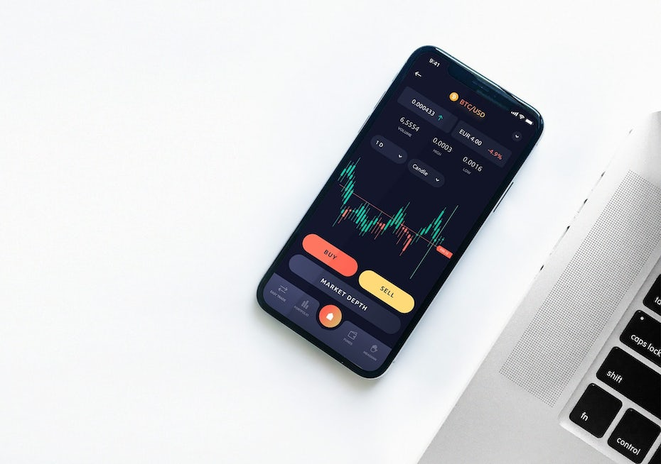 modern ui design with a dark background and orange and red buttons